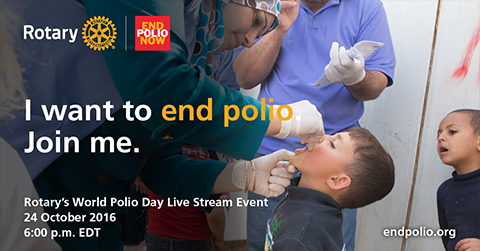 I want to end polio.  Join me